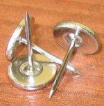 Кнопка металлическая для жесткой бирки 16 мм с плоской шляпкой